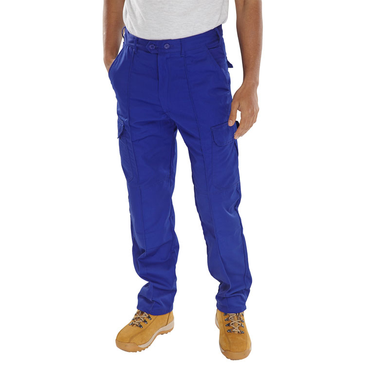 Super Click Workwear Drivers Trousers Royal Blue 34 Ref PCTHWR34 *Up to 3 Day Leadtime*