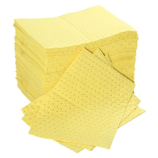 Fentex Chemical Absorbent Pads 100 Litres 400x500mm Yellow Ref CB100 *Up to 3 Day Leadtime*
