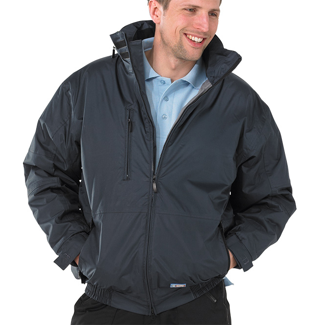 B-Dri Weatherproof Mercury Bomber Jacket Zip Away Hood Small Navy Blue Ref MUBJNS *Up to 3 Day Leadtime*