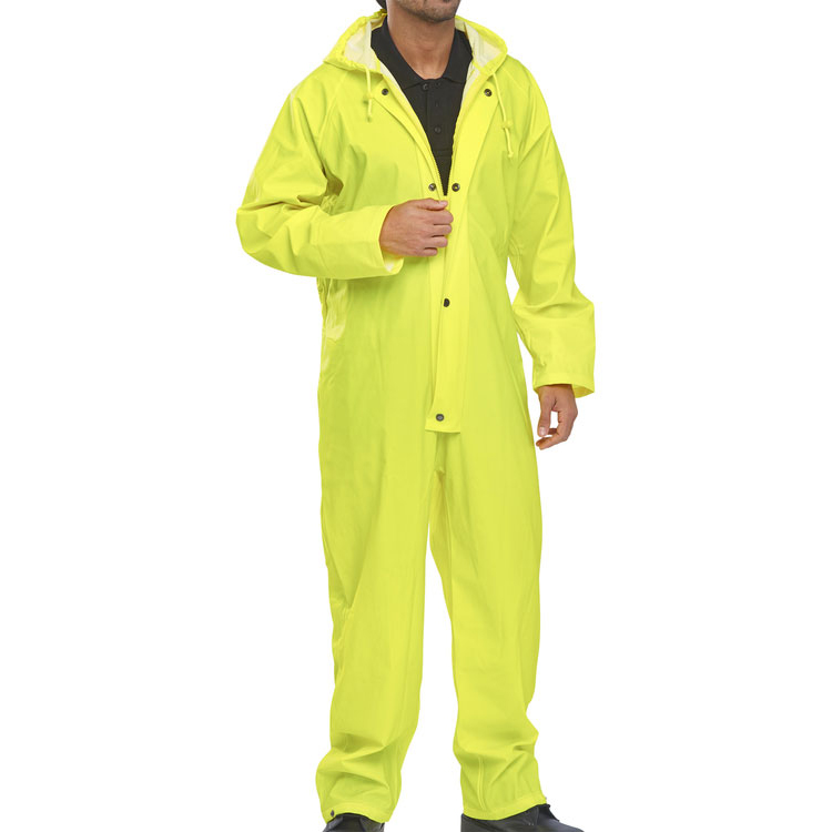 B-Dri Weatherproof Coveralls Nylon Large Yellow Ref NBDCSYL *Up to 3 Day Leadtime*