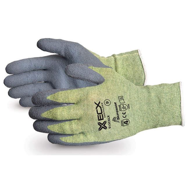 Superior Glove Emerald CX Kevlar Wire-Core Latex Palm 10 Grey Ref SUS13CXLX10 Up to 3 Day Leadtime