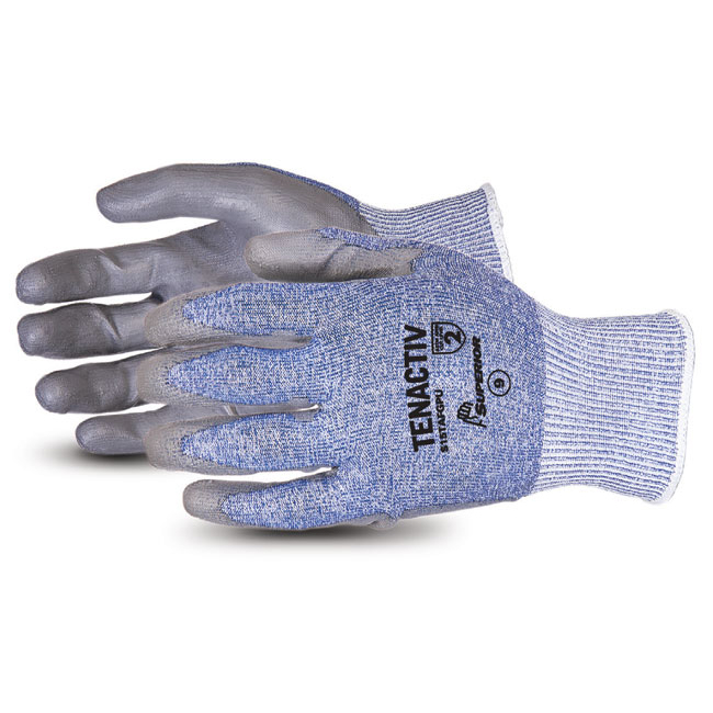 Superior Glove Tenactiv Composite Knit Cut-Resistant PU 11 Grey Ref SUS15TAFGPU11 Up to 3 Day Leadtime