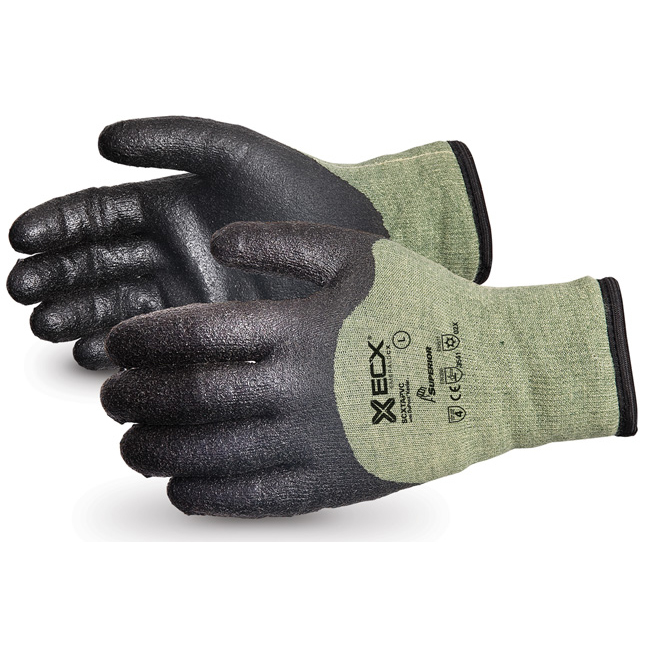 Superior Glove Emerald CX Kevlar/Steel Winter PVC Palm L Black Ref SUSCXTAPVCL Up to 3 Day Leadtime