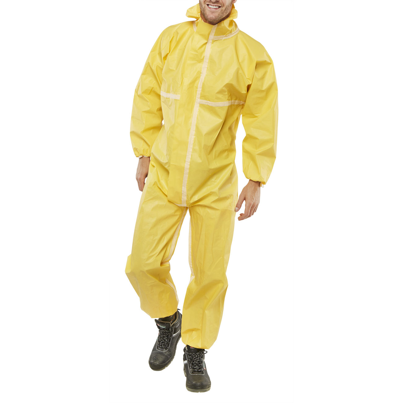 Click Once Microporous Disposable Coverall Yellow 4Xl*Up to 3 Day Leadtime*