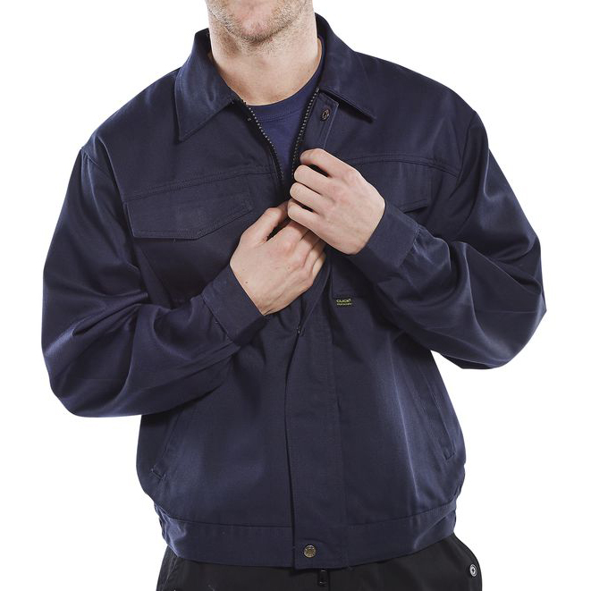 Mens coats or jackets Click Heavyweight Drivers Jacket Navy 40in Blue Ref PCJ9N40 *Up to 3 Day Leadtime*