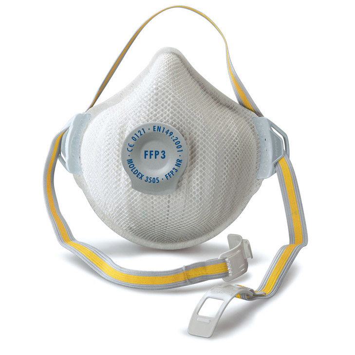 Moldex FFP3V Mask NR D Valve Adjustable White Ref M3505 [Pack 5] Up to 3 Day Leadtime
