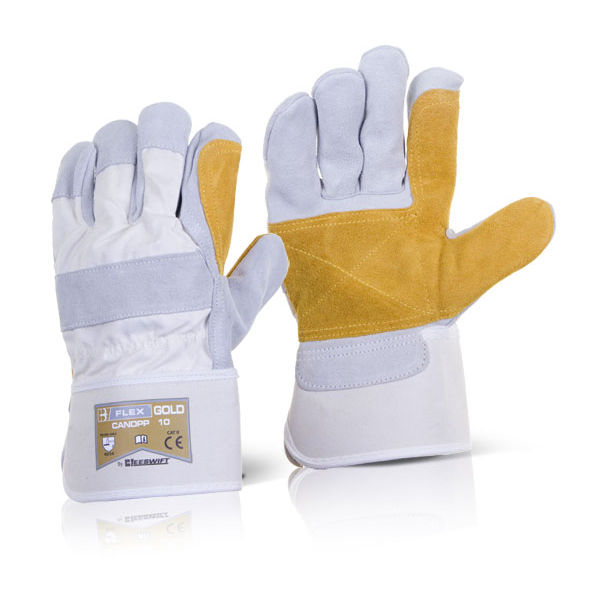 B-Flex Canadian Double Palm High Quality Rigger Glove Ref CANDPP [Pack 60] Up to 3 Day Leadtime