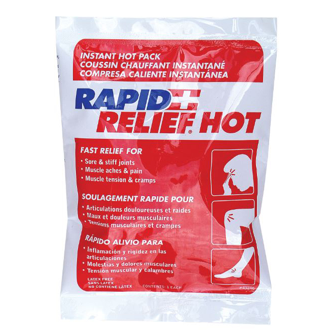 Limitless Rapid Relief Instant Hot Pack Latex Free Small 4in x 6in Ref RA43246 *Up to 3 Day Leadtime*
