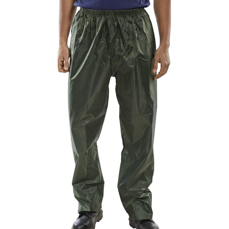 B-Dri Weatherproof Trousers Nylon Lightweight XL Olive Green Ref NBDTOXL Up to 3 Day Leadtime
