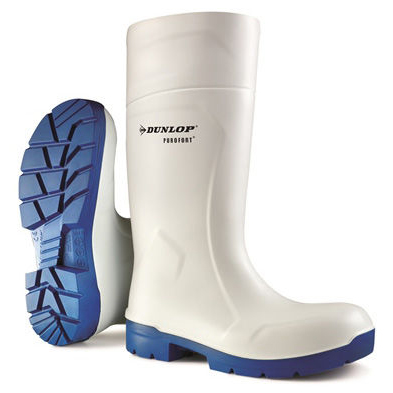 Dunlop Purofort Multigrip Safety Wellington Boots Size 10 White Ref CA6113110 *Up to 3 Day Leadtime*