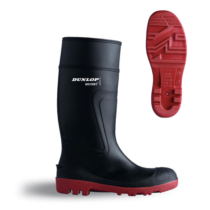 Dunlop Actifort Warwick Safety Wellington Boot Size 8 Black Ref D886408 *Up to 3 Day Leadtime*