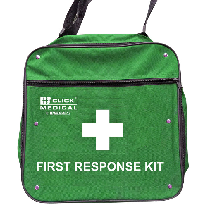 Click Medical Responders Bag for First Aid Supplies Green Ref CM1712 *Up to 3 Day Leadtime*