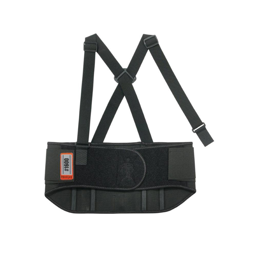 Ergodyne Standard Elastic Back Support Large Black Ref EY1600L *Up to 3 Day Leadtime*