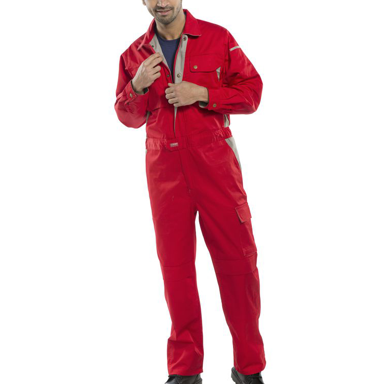 Click Premium Boilersuit 250gsm Polycotton Size 46 Red Ref CPCRE46 Up to 3 Day Leadtime