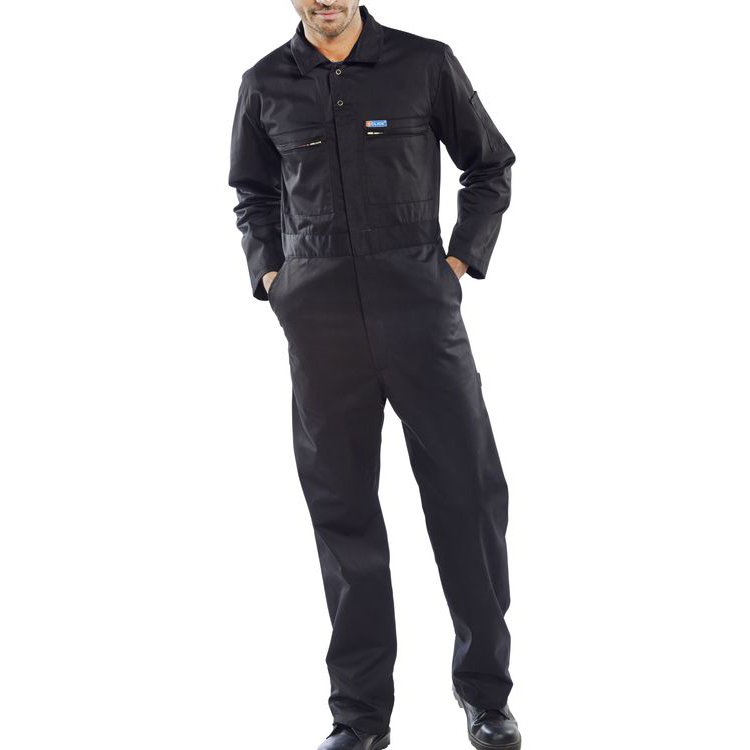 Super Click Workwear Heavy Weight Boilersuit Black 48 Ref PCBSHWBL48 *Up to 3 Day Leadtime*