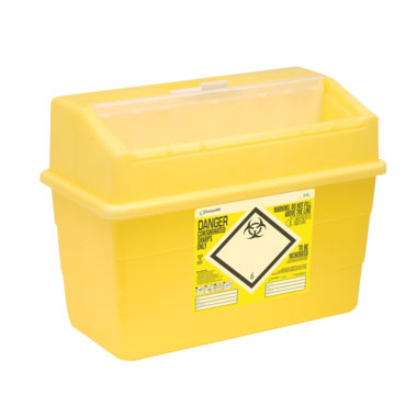 Click Medical Sharps Bin Temporary & Final Closure Feature 24L Yellow Ref CM0648 *Up to 3 Day Leadtime*