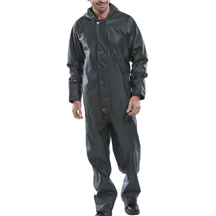 Super B-Dri Weatherproof Coveralls L Olive Green Ref SBDCOL Up to 3 Day Leadtime