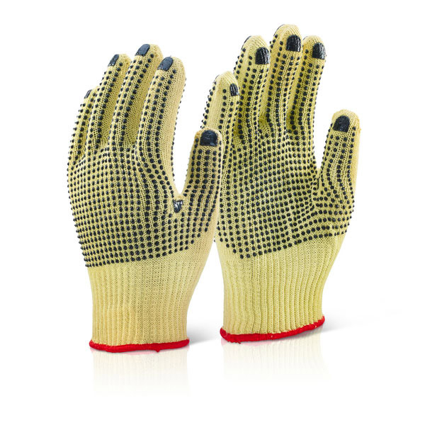 Click Kutstop Kevlar Mediumweight Dotted Glove 08 [Pack 10] Ref KGMWD08 *Up to 3 Day Leadtime*