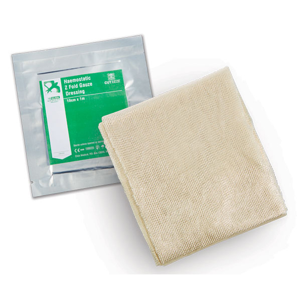 Limitless Cut-Eeze Haemostatic Gauze Dressing Z Fold in Foil Pouch Ref CM0562 *Up to 3 Day Leadtime*