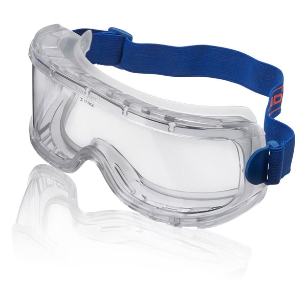 B-Brand Wide Vision Goggles Clear BBWVG [Pack 5] Up to 3 Day Leadtime