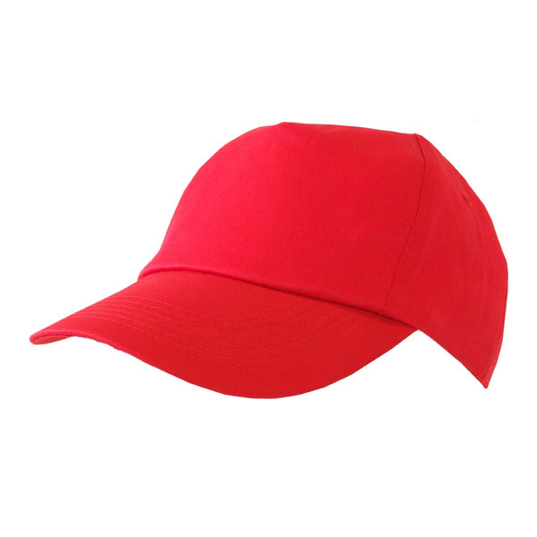 Head Protection Click Workwear Baseball Cap Red Ref BCRE *Up to 3 Day Leadtime*