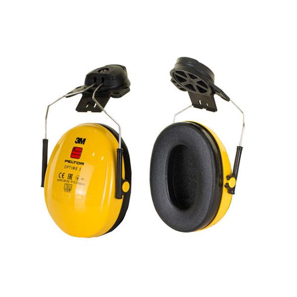 Peltor Optime 1 Helmet Mounted Ear Defenders 26dB Yellow Ref H510P3E-405-GU *Up to 3 Day Leadtime*