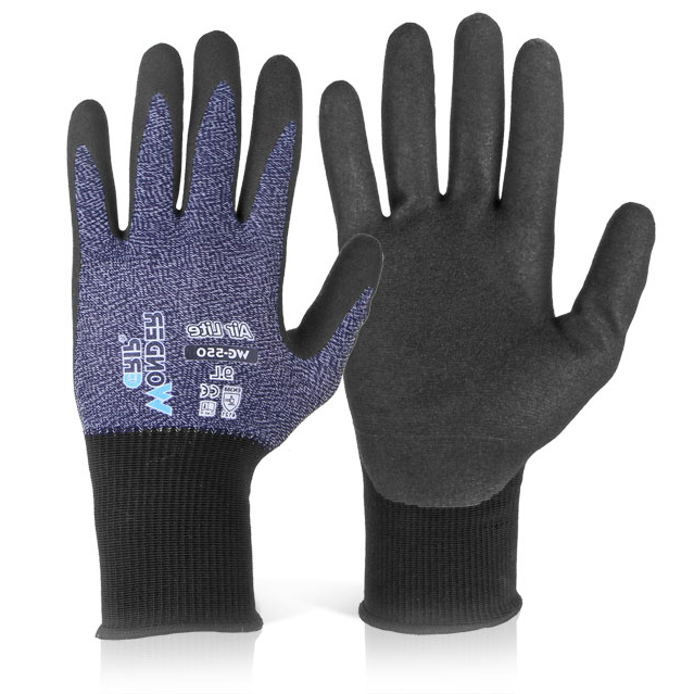 Wonder Grip WG-550 Air Lite Glove Large Grey Ref WG550L *Up to 3 Day Leadtime*