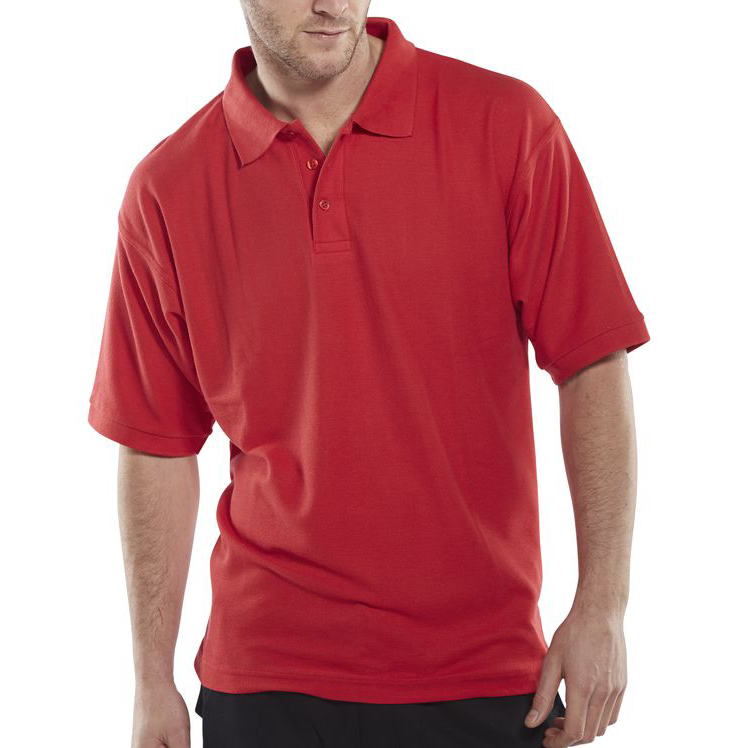 Click Workwear Polo Shirt Polycotton 200gsm M Red Ref CLPKSREM *Up to 3 Day Leadtime*