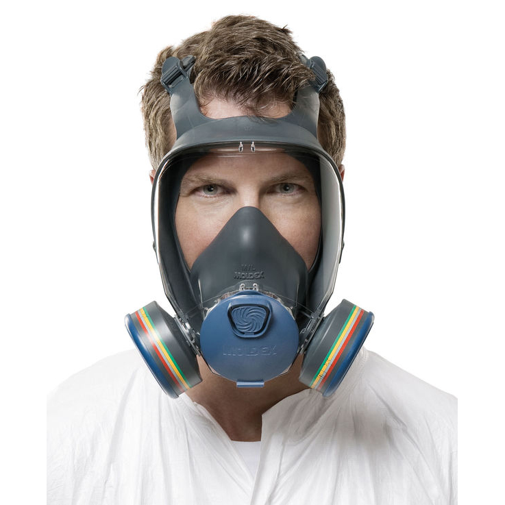 Moldex 9000 Full Face Mask Lightweight Peripheral Vision Small Grey Ref M9001 *Up to 3 Day Leadtime*