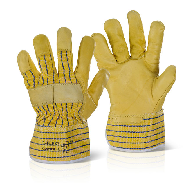 B-Flex Canadian Yellow Hide Rigger Glove Ref CANYHSP [Pack 10] Up to 3 Day Leadtime