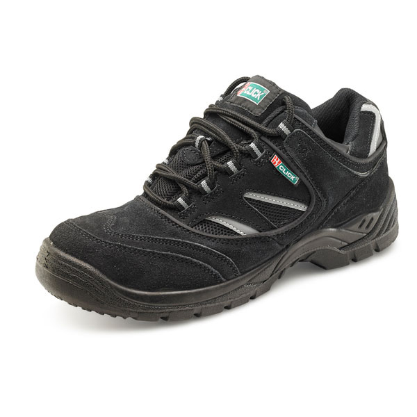 Footwear Click Footwear Sneaker Trainers Nubuck Size 5 Black Ref CDDTB05 *Up to 3 Day Leadtime*