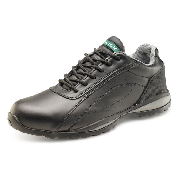 Footwear Click Footwear Trainers Leather Steel Toecap Size 10 Black Ref CF7BL10 *Up to 3 Day Leadtime*
