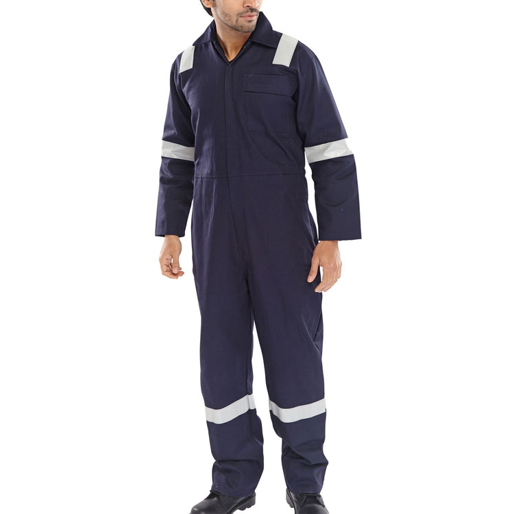 Click Fire Retardant Boilersuit Nordic Design Cotton 48 Navy Ref CFRBSNDN48 *Up to 3 Day Leadtime*
