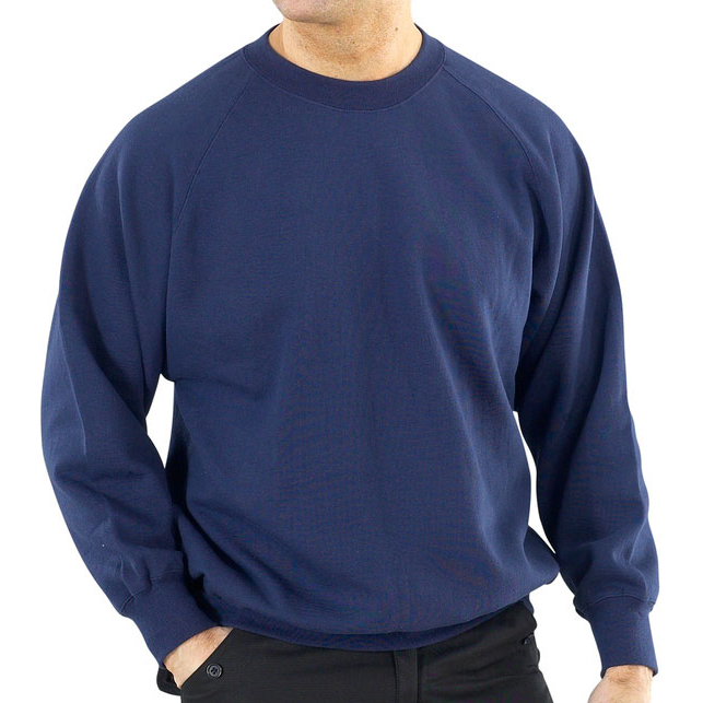 Click Workwear Sweatshirt Polycotton 300gsm XS Navy Blue Ref CLPCSNXS Up to 3 Day Leadtime