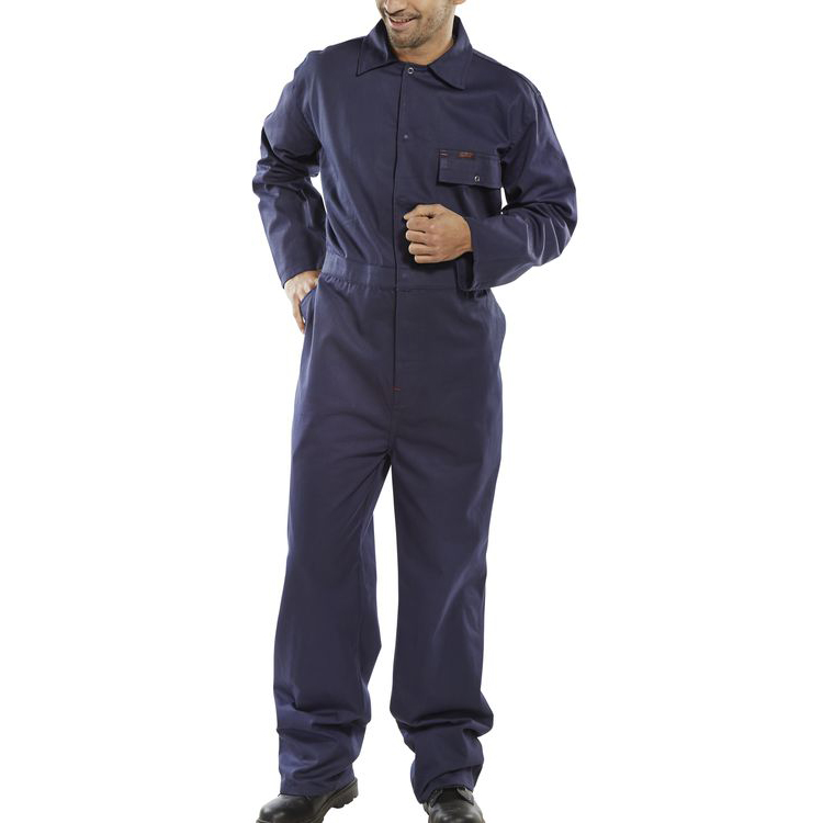 Click Workwear Cotton Drill Boilersuit Size 58 Navy Blue Ref CDBSN58 Up to 3 Day Leadtime