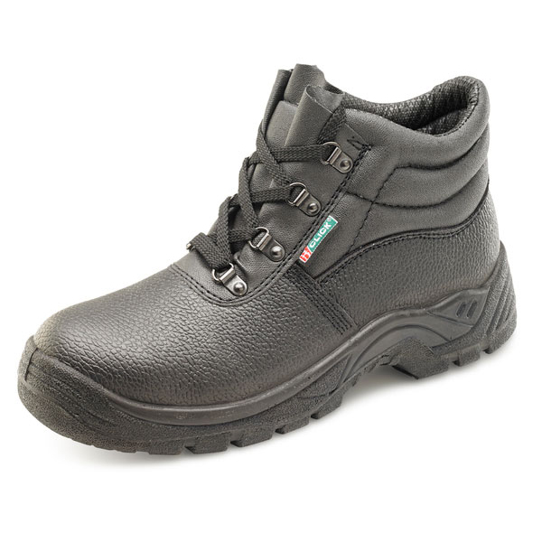 Click Footwear 4 D-Ring Boot PU/Leather Size 6.5 Black Ref CDDCBL06.5 *Up to 3 Day Leadtime*