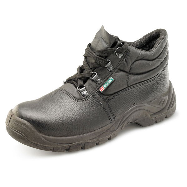 Click Footwear Dual Density Boot S3 Chukka Mid-Sole 10 Black Ref CDDS3CMSBL10 *Up to 3 Day Leadtime*