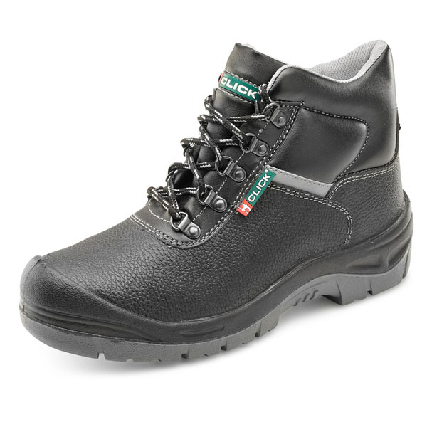 Click Footwear 5-Ring Dual Density Site Boot S3 PU/Leather 4 Black Ref CF11BL04 *Up to 3 Day Leadtime*