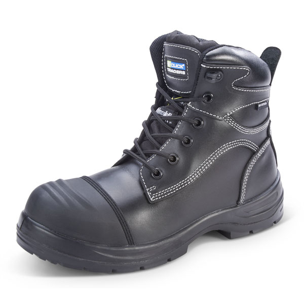 Click Traders Trencher Boot Impact Protect PU/Rubber Size 7 Black Ref CF66BL07 *Up to 3 Day Leadtime*