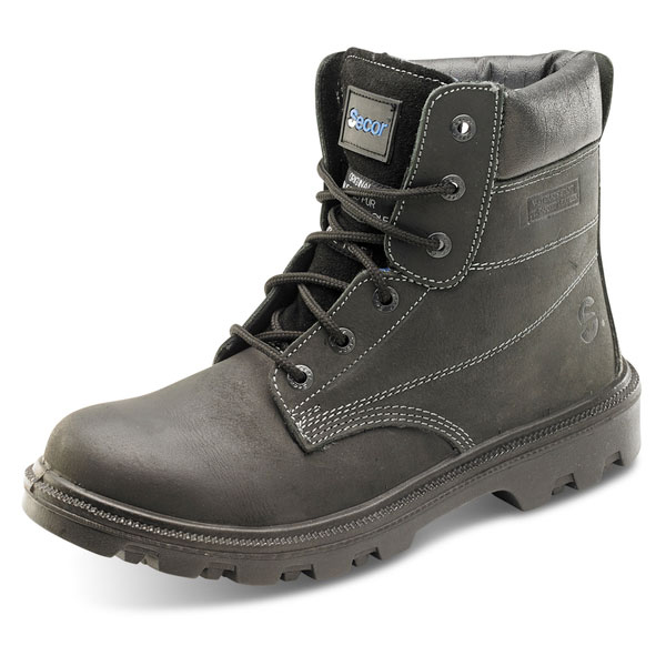 Click Footwear Sherpa Dual Density 6in Boot PU/Rubber Size 8 Black Ref SBBL08 *Up to 3 Day Leadtime*