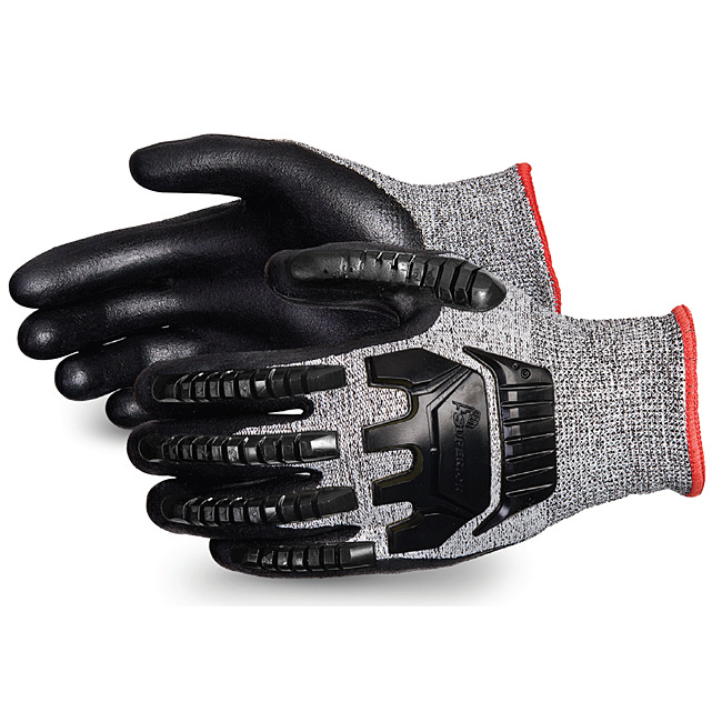 Superior Glove Tenactiv Anti-Impct Cut-Resist Nitr Palm 10 Black Ref SUSTAFGFNVB10 *Up to 3 Day Leadtime*