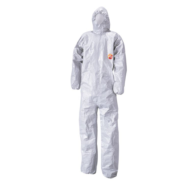 Tychem F Model CHA5 Hooded Coverall Small Grey Ref TYFBSS Up to 3 Day Leadtime