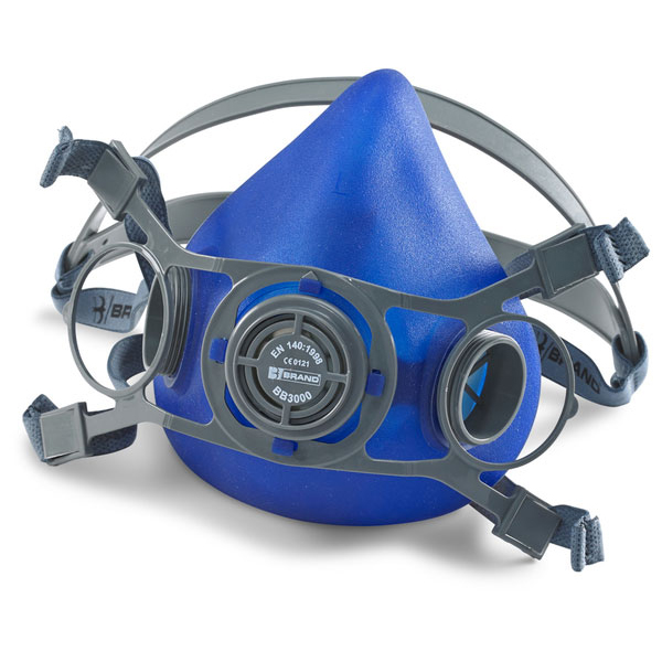 Mask or respirators filters or accessories B-Brand Twin Filter Mask Adjustable Strap Large Blue Ref BB3000L *Up to 3 Day Leadtime*