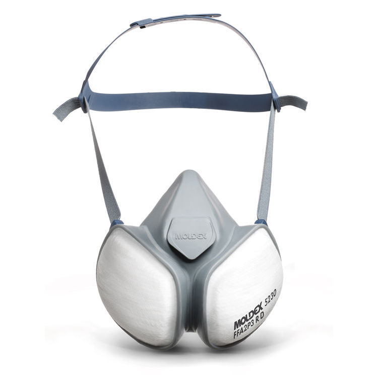 Moldex FFA2P3RD Half Mask with Pleated Filter Technology White Ref M5230 Up to 3 Day Leadtime
