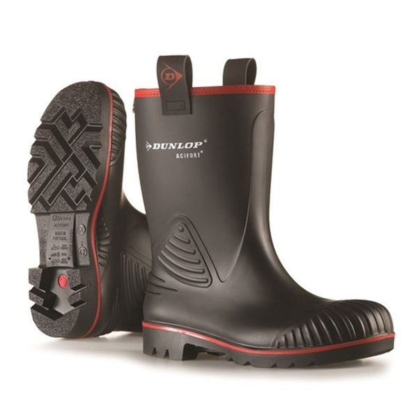 Dunlop Acifort Rocker Rigger Boots Size 8 Black Ref A442033CH08 *Up to 3 Day Leadtime*