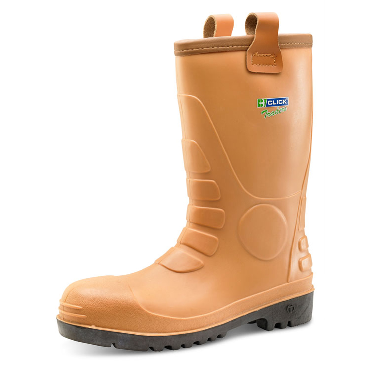 Click Traders Euro Rig Boots Steel Toe Cap PVC Tan Size 7 Ref ER07 *Up to 3 Day Leadtime*