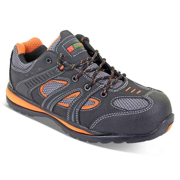 Click Footwear Action Trainer Non Metallic Size 6.5 Black/Orange Ref CF1906.5 *Up to 3 Day Leadtime*