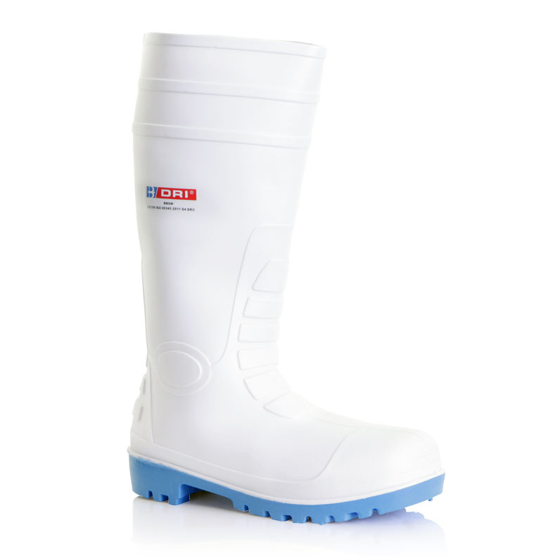 Footwear B-Dri Footwear Safety Wellington Boots PVC Size 10.5 White Ref BBSW10.5 *Up to 3 Day Leadtime*