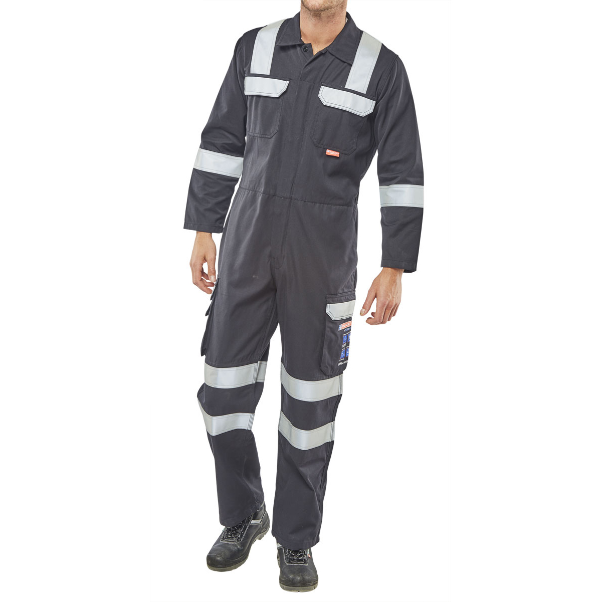 Click Arc Flash Coveralls Size 46 Navy Blue Ref CARC6N46 *Up to 3 Day Leadtime*