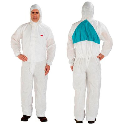3M 4520 Protective Coveralls White Large Ref 4520WL Pack 20 *Up to 3 Day Leadtime*